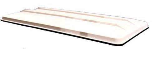 "Sun top with trim, 130"". Pure White"